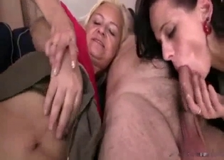 Three-way incest with her old folks