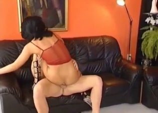 Upside down fucking in an incest vid