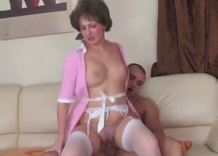 Maid mommy fucking her hung boy