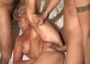 They fuck their mature mommy here
