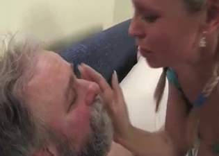 Sucking on daddy's gross sweaty toes