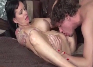 Busty mommy seducing her hung son