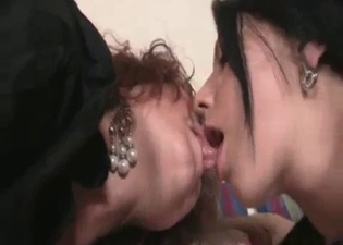 Impressive incest with daughter and mom