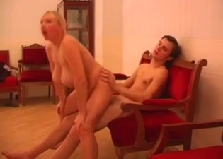Mommy obsessively riding her boy's cock