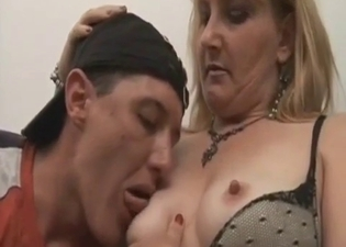 Giving mommy's nipples a suckle