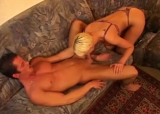 Blonde face-fucked by her uncle