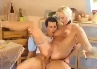 Mommy happily fucks her boy