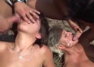 Mom taking dicks outdoors like a whore