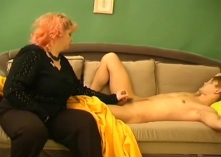 Mommy sucking cock like crazy on cam