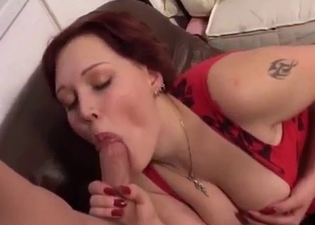 Brunette lovingly worships that cock