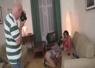 Parental incest in an FFM 3some