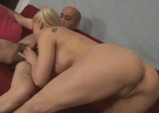 Pigtailed blonde and her hung daddy