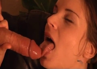 Brunette wants that hot cum all over