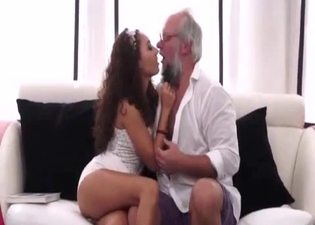 Young girl and her kinky grandpa