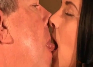 Daddy eating her out on camera