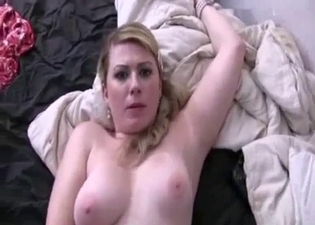 Big-breasted aunt fucked in POV