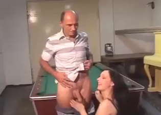 Brunette enjoying that meaty boner