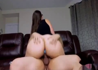 Big booty babe rides her brother