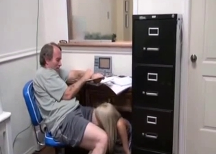 Brings his daughter to work to fuck her