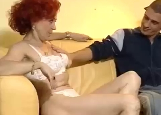 Mommy sucking on this throbbing cock