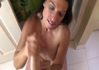 Incredible blowjob from mommy