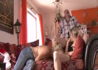 Threesome with family members only