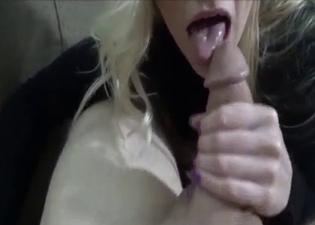 PAWG mommy sucking it in POV