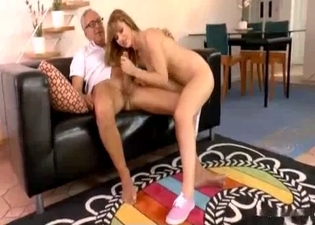 Teen in cute kicks fucks her father
